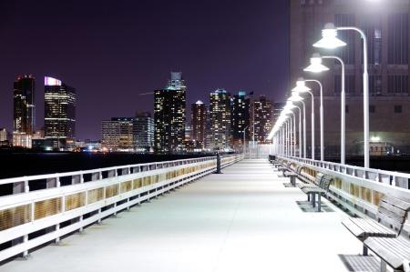 Night bridge with lanterns